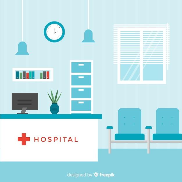 Composizione di accoglienza ospedaliera moderna Vettore Premium
