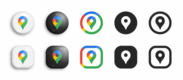 Set di icone moderne Vettore Premium