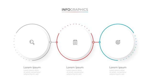 Design moderno modello infografico con cerchi Vettore Premium