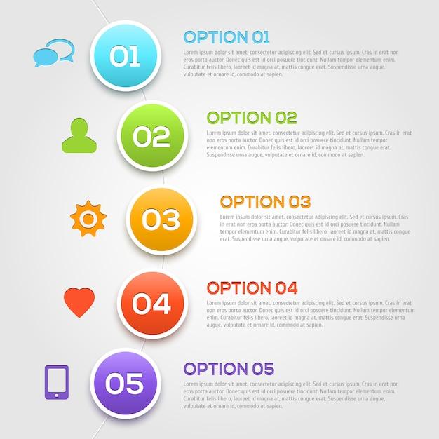 Modello moderno di opzioni di infographics. Vettore Premium