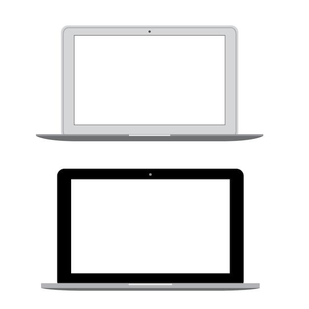Vettore moderno del taccuino del computer portatile Vettore Premium