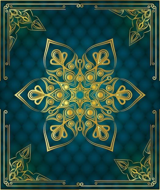 Sfondo di mandala dacorative ornamentali di lusso moderno Vettore Premium