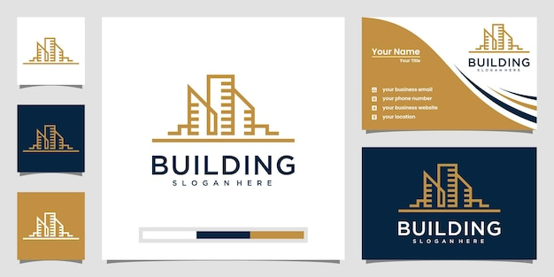 Logotipi di immobili moderni Vettore Premium