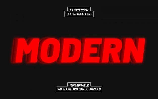 Effetto stile moderno testo rosso Vettore Premium