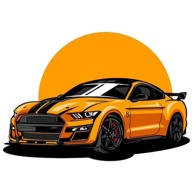 Illustrazione di auto moderne e sportive Vettore Premium