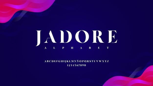 Carattere tipografico moderno con effetto curvo Vettore Premium