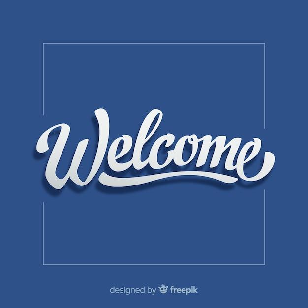 Benvenuto moderno lettering design Vettore Premium