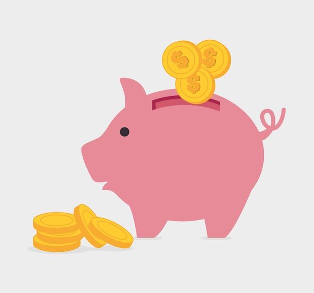 Progettazione di denaro. Vettore Premium