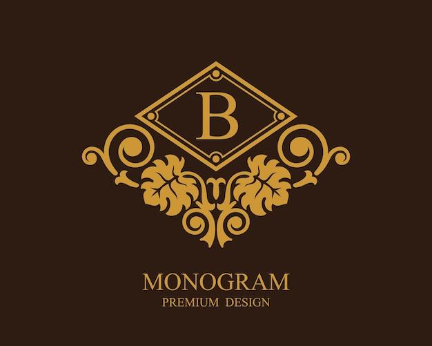 Logo del modello calligrafico monogramma Vettore Premium
