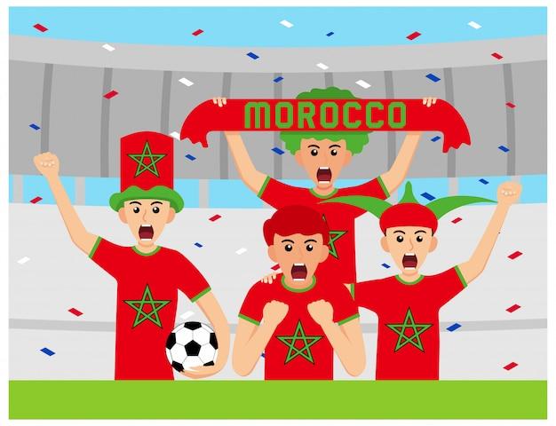 Sostenitori del marocco in design piatto Vettore Premium