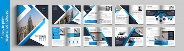 Progettazione di brochure bifold multiuso Vettore Premium