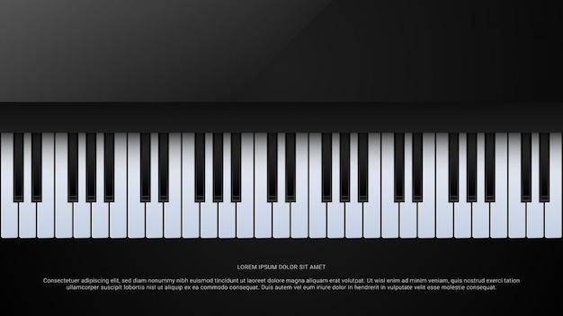 Musica grand piano poster sfondo Vettore Premium