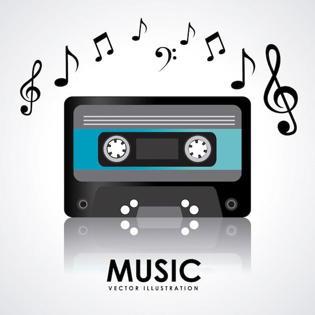 Musica Vettore Premium