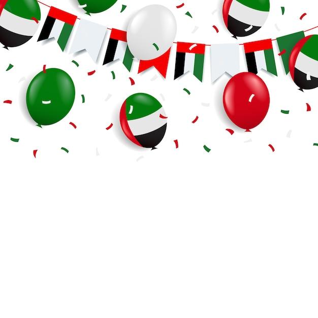 Festa nazionale emirati arabi uniti. Vettore Premium