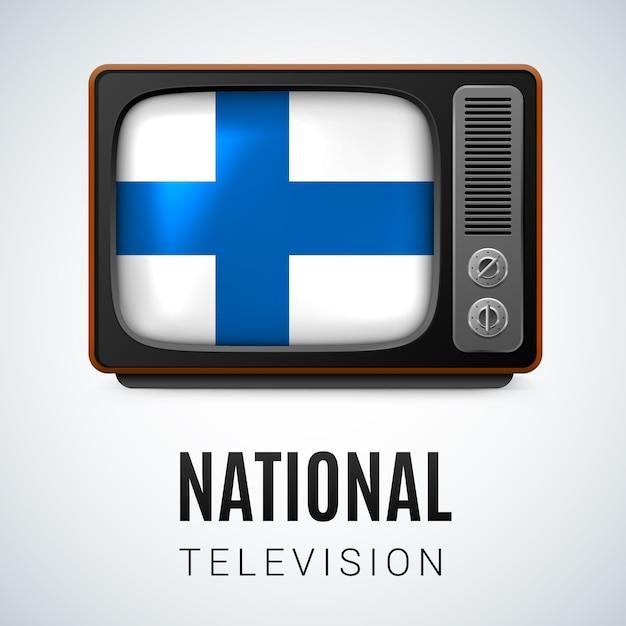 Televisione nazionale Vettore Premium