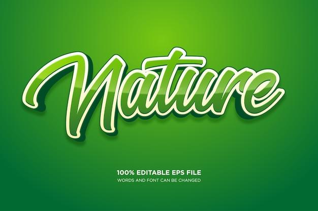 Natura fresca effetto stile testo Vettore Premium