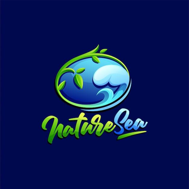 Modello di logo della natura Vettore Premium