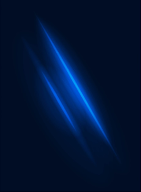 Elemento blu sfocato di vettore di effetto di potenza del raggio di luce al neon Vettore Premium