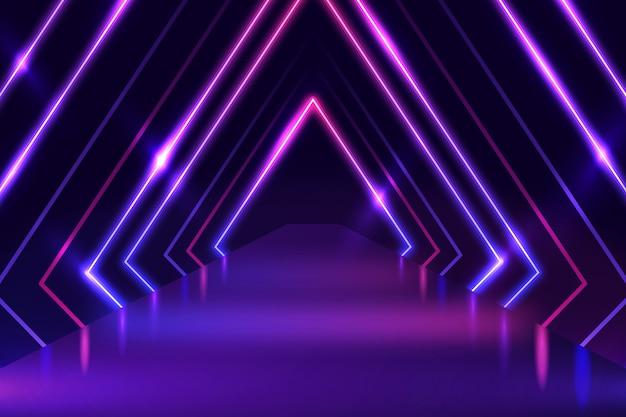 Sfondo di luci al neon Vettore Premium