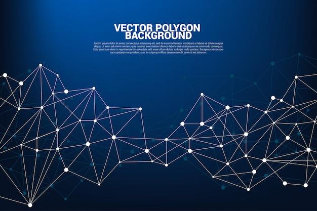 Rete collegamento di poligoni di punti Vettore Premium