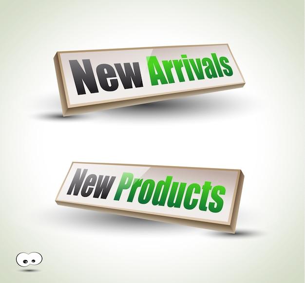 Nuovi arrivi box panel 3d Vettore Premium