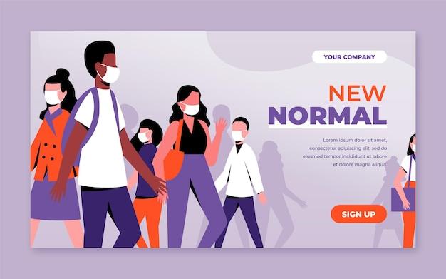 Nuovo modello di banner normale Vettore Premium