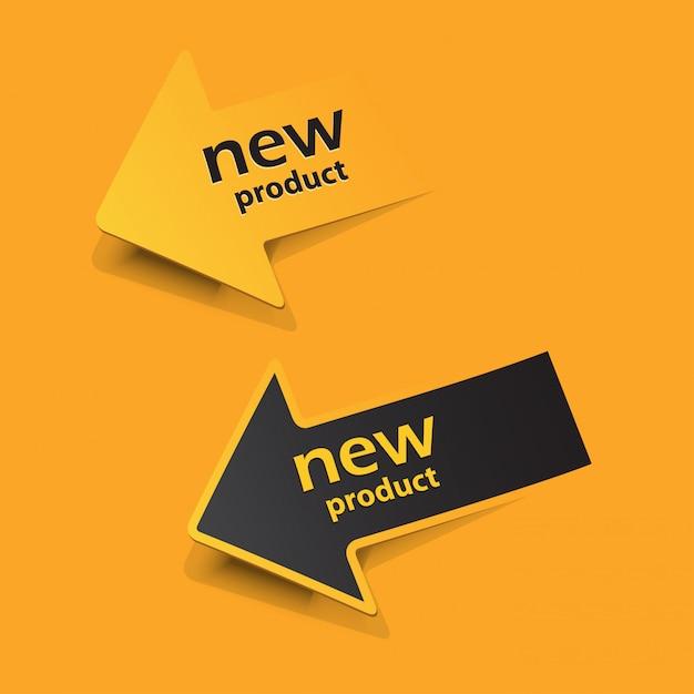 Adesivi e tag per nuovi prodotti Vettore Premium