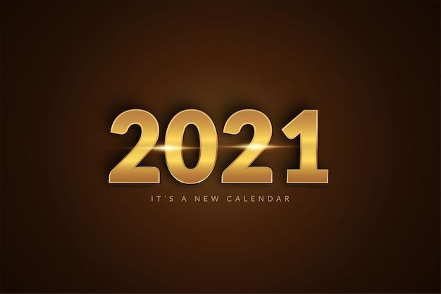 Calendario del nuovo anno, modello del fondo dell'illustrazione di celebrazione di festa Vettore Premium
