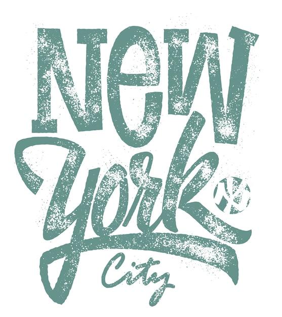 Tipografia di new york city, stampa. Vettore Premium