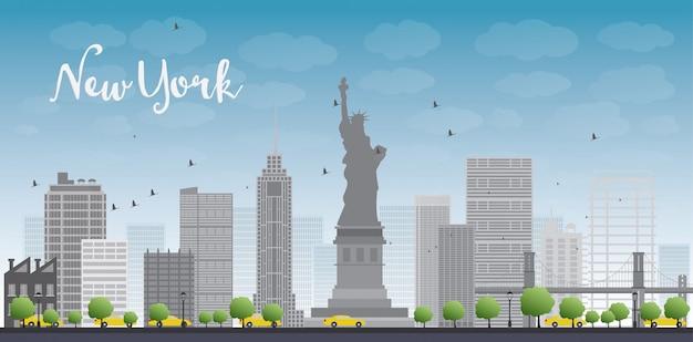 New york city Vettore Premium