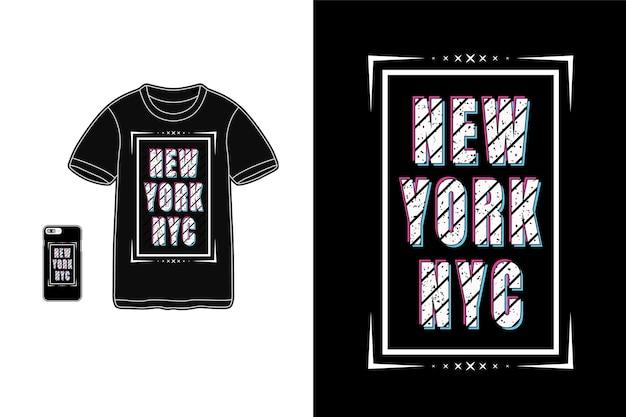 Tipografia di new york nyc Vettore Premium