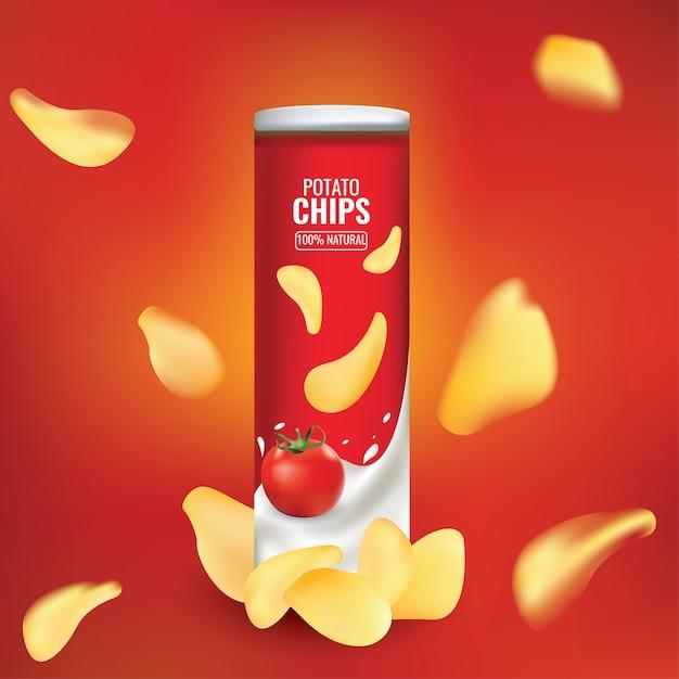 Bello e bello astratto o poster per chips packing Vettore Premium