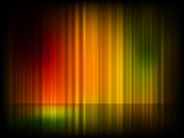 Aurora boreale (aurora boreale). Vettore Premium