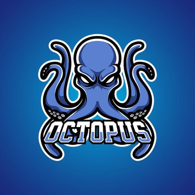 Logo della mascotte di octopus gamer e sports Vettore Premium