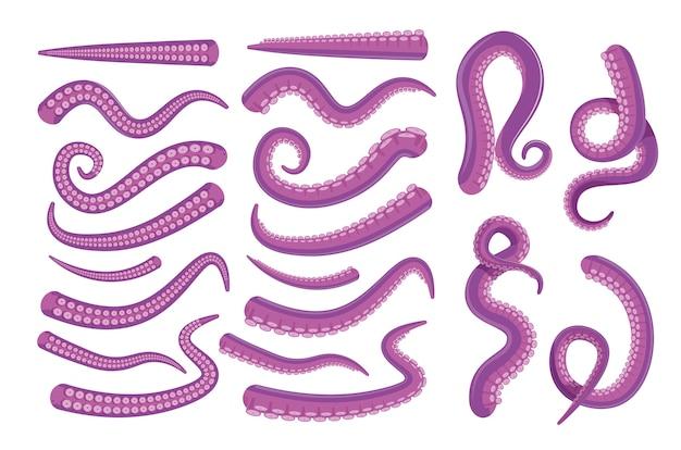 Icona di tentacolo di polpo. Vettore Premium