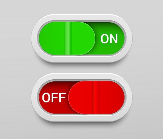 Modello di pulsanti di accensione e spegnimento Vettore Premium