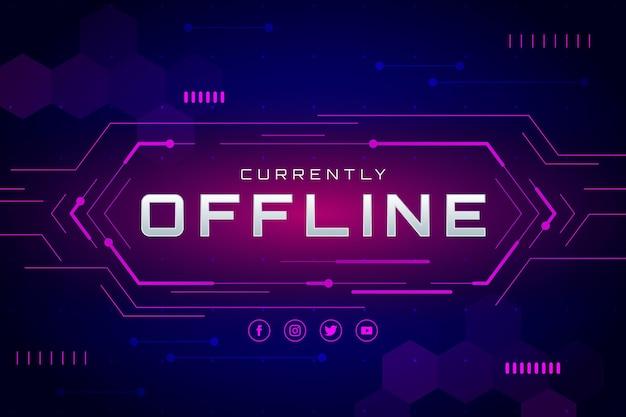 Stile di gammer banner twitch offline Vettore Premium