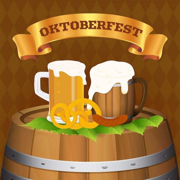 Festa della birra dell'oktoberfest Vettore Premium