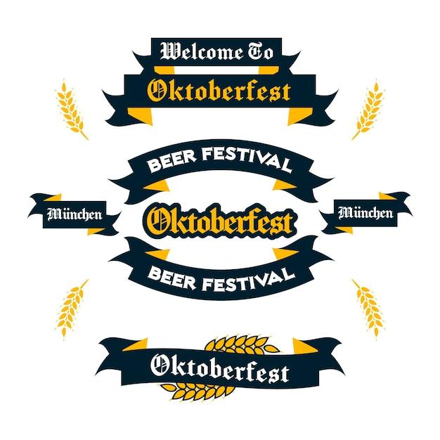 I nastri dell'oktoberfest disegnano il sorteggio Vettore Premium