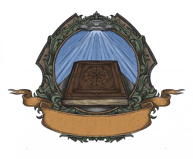 Libro vecchio Vettore Premium