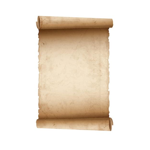 Vecchia carta pergamena Vettore Premium