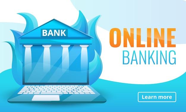 Progettazione del concetto di banca online Vettore Premium