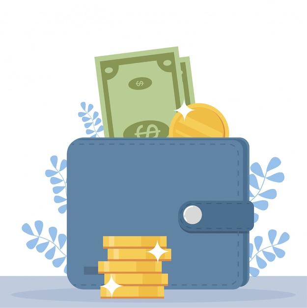 Concetto di ricompensa online. le persone felici ricevono dai soldi dallo schermo dello smartphone. Vettore Premium