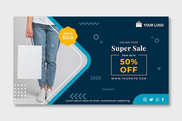 Banner dello shopping online Vettore Premium