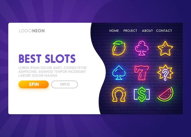 Slot online - pagina di destinazione. pagina web del casinò Vettore Premium