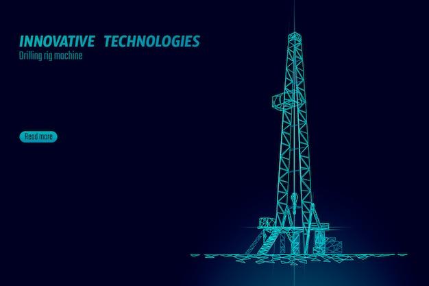 Piattaforma di produzione del gasolio a terra. Vettore Premium