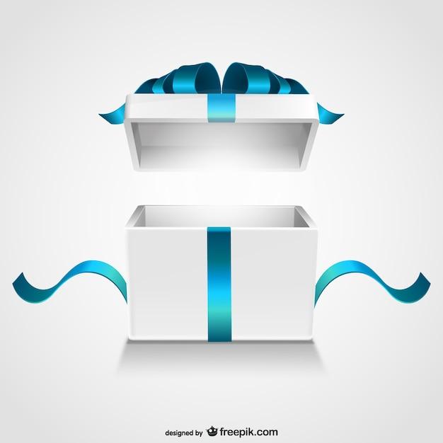 Open gift box Vettore Premium
