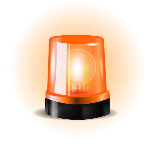 Lampeggiatori orahge siren Vettore Premium