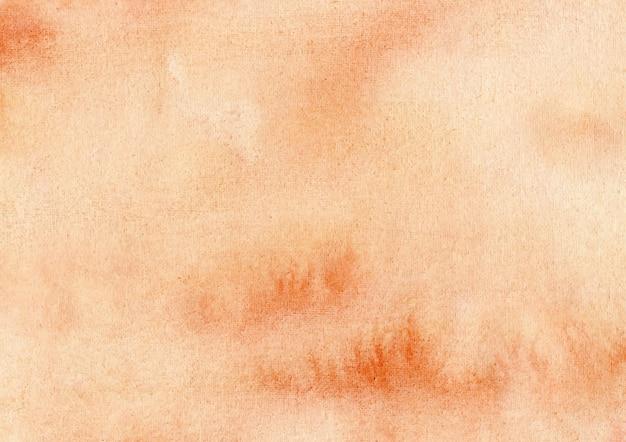 Sfondo acquerello astratto arancione Vettore Premium
