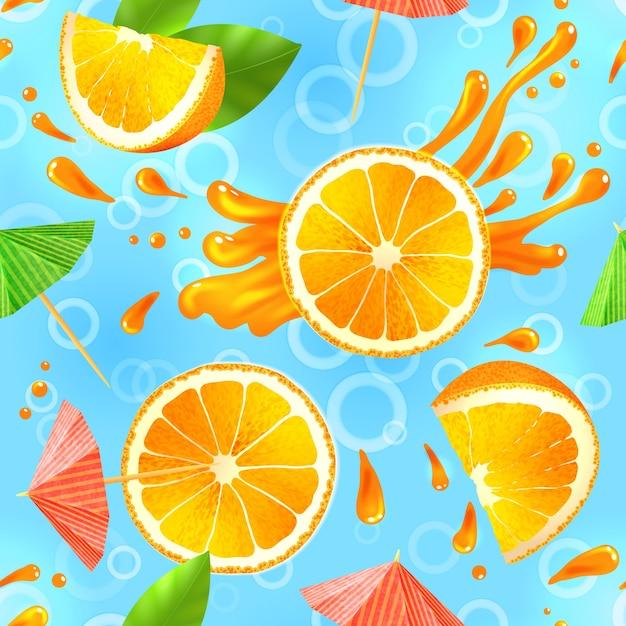 Arancione senza saldatura pattern Vettore Premium